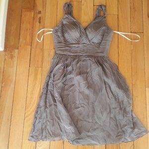 OFFER DonnaMorgan 100% Silk Mauve Bridesmaid Dress